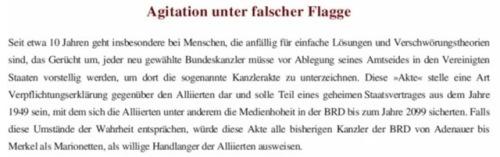 Agitation unter falscher Flagge